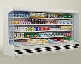 Store display refrigerator freezer 02 eggs 3D model