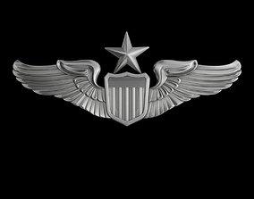 3D Senior Pilot USAF Wings Badge