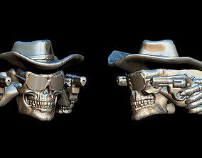 cowboy skull 3D print model