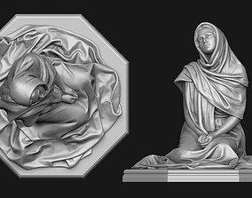 3D print model Praying Woman Statue