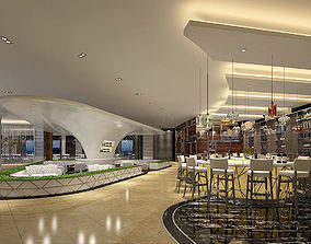 3D Business Restaurant - Coffee - Banquet 144