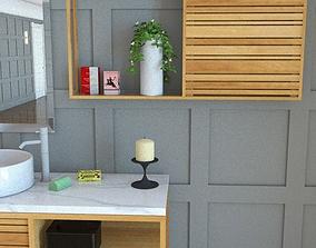 3D asset Palena bathroom wall cabinet h60 w116 d15cm