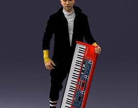3D stage Musician synthesizer 0118