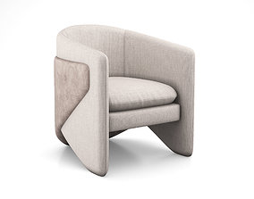 3D model Thea chair by West elm