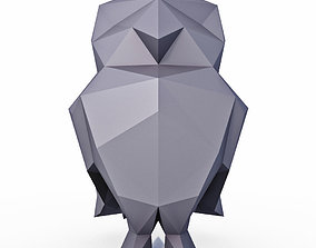Little Owl Low Poly 3D model