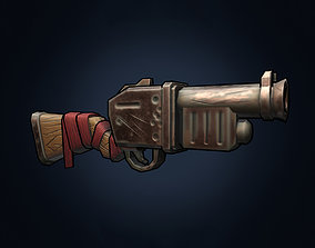 Stylized hand painted weapon gun 3D asset VR / AR ready