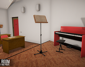 Music room - environment and props 3D model