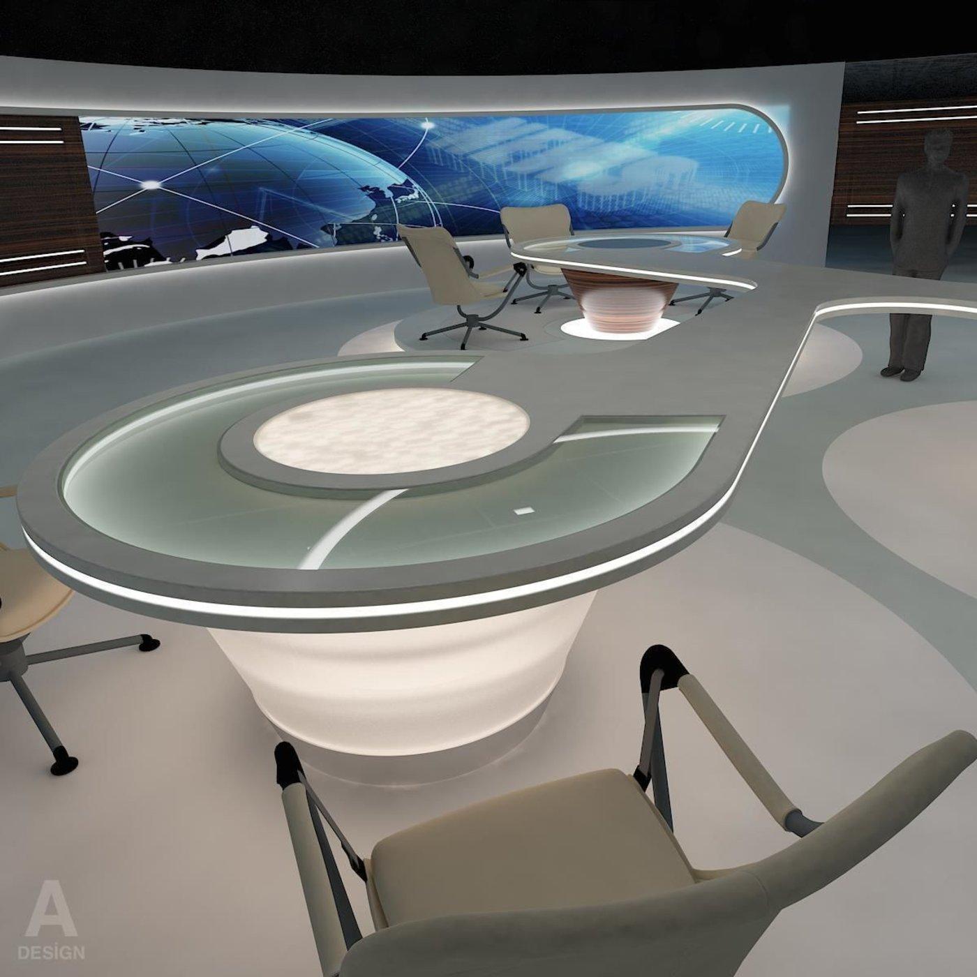 Virtual Broadcasting News Studio 028
