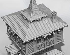 brick Medieval house 3D printable model