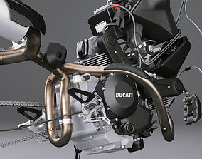 Motorcycle Engine Exhaust Brakes 3D