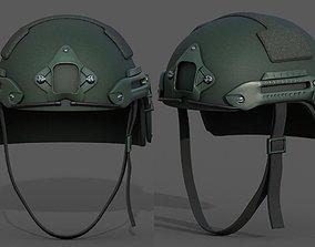 3D model Helmet military combat fantasy