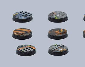 3D print model Sci-fi base toppers - for 32mm bases