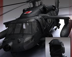 3D Battlehawk Military Helicopter