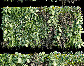 Verticalgarden - Green wall 05 3D model