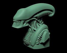 3D print model Head of a Xenomorph sci