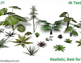 Low poly Foliage Pack 3D model low-poly