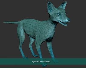 Fox Dog Basemesh Unwrapped Animation Groom 3D model 1