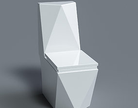 3D Diamond Toilet