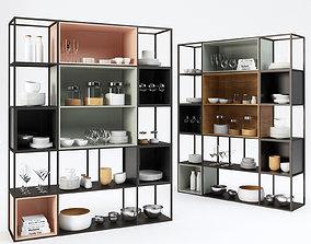 Kitchen shelf 3D martini