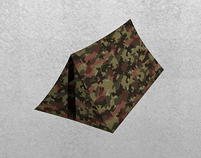 Military tent 3D model low-poly