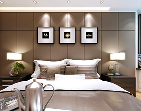 sofa Hotel Guest Room bedroom European style 3D