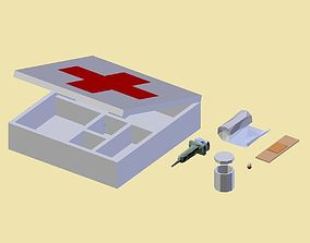3D model PACK 010 Medikit Medicament box Stupe Bandage