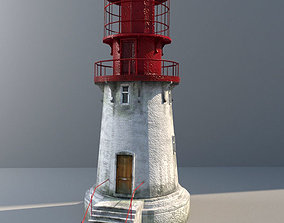 Lighthouse low-poly with LODs and PBR textures 3D asset