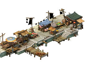 Game Model - City Food Market flower