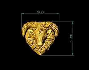 Golden Goat For Pendants And House Decor 3D print model