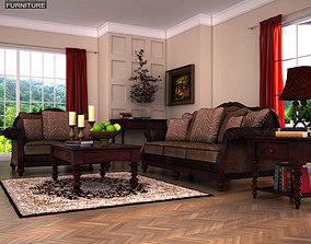 3D model Ashley livingroom Key Town