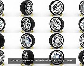 ORTAS CAR WHEEL RIM 135-136 GAME READY WHEEL 3D