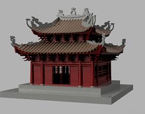 3D asset Oriental Vietnam Buddhist temple