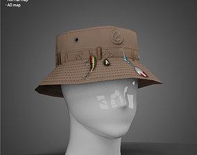 Fisherman hat - Low Poly model realtime