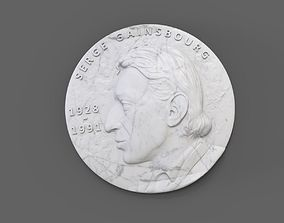 Medallion Serge Gainsbourg 3D print model