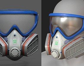 Gas mask helmet 3d safety isolated fantasy VR / AR ready
