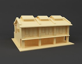 3D printable model Shop house Singapore