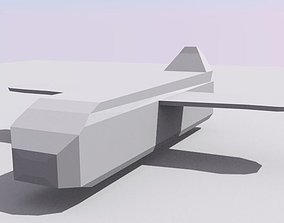 3D asset Low-poly jet