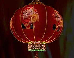 design year 3D model Chinese Red Lantern
