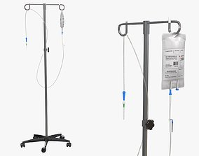 3D model IV Blood Bag Dropper Stand