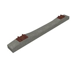3D model Reinforced Concrete Railway Sleepers