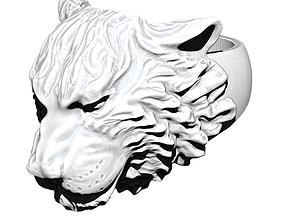 Animal Tiger Ring Detailed 3D print model