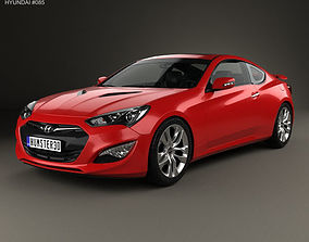 Hyundai Genesis coupe with HQ interior 2014 3D model