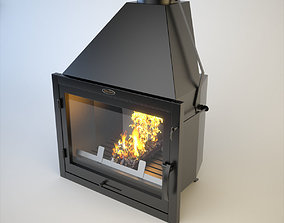 SiberStove Fireplace Furnace Aquariums 3D model