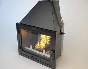 SiberStove Fireplace Furnace Aquariums 3D model