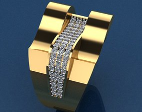 Ring 40 3D printable model diamond