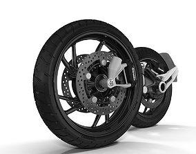 part Motorcycle Wheels 3D model