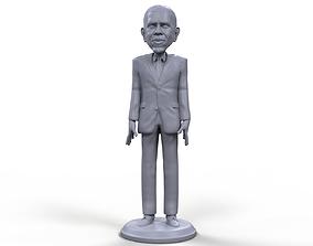 Barack Obama stylized high quality 3d printable miniature
