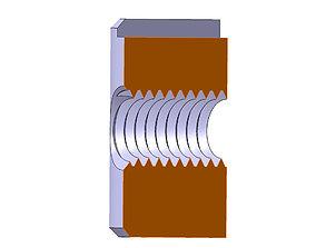 3D print model Cross Dowel M4xD8x12mm 6mm-6mm