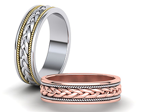 6mm Woven Band ring Wedding band 3dmodel