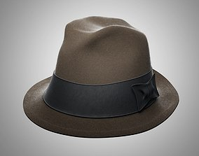 culture 3D Hat of the gangster model